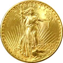 Zlatá mince American Double Eagle 1928