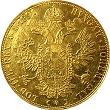 Zlatá mince 4-Dukát Františka Josefa I. 1891