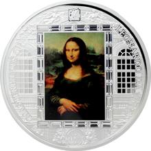 Stříbrná mince 3 Oz Mona Lisa Leonardo da Vinci 2016 Krystaly Proof