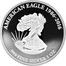 Stříbrná mince The American Eagle 1 Oz 2016 Proof