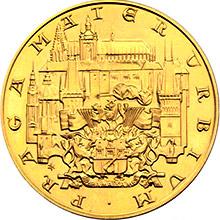 Zlatá mince 10-Dukát Karla IV. 1978