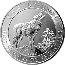 Strieborná investičná minca Grey Wolf 3/4 Oz