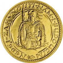 Zlatá mince Svatý Václav Dvoudukát Československý 1935
