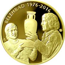 Zlatá půluncová medaile 40. výročí ME v Bělehradě 2016 Proof