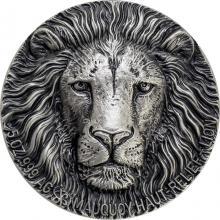 Stříbrná mince 5 Oz Lev The African Big Five High Relief 2016 Antique Standard