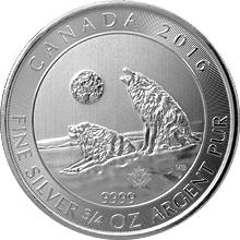 Stříbrná investiční mince Howling Wolf 3/4 Oz