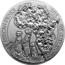 Stříbrná investiční mince Surikata Rwanda 1 Oz 2016