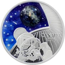 Stříbrná mince Vesmír 1 Oz Star Gazing 2016 Opál Proof (.9999)