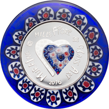 Stříbrná mince Murrine Millefiori Glass Art 2016 Proof