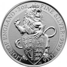 Stříbrná investiční mince The Queen's Beasts The Lion 2 Oz 2016