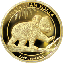 Zlatá mince 2 Oz Koala High Relief 2016 Proof