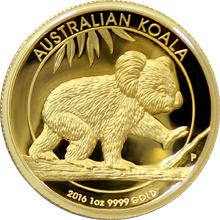 Zlatá mince Koala 1 Oz High Relief 2016 Proof