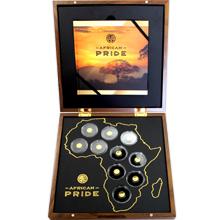 African Pride Sada zlatých mincí 2016 Miniatury Proof