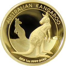 Zlatá mince Australian Kangaroo 1 Oz 2016 High Relief Proof