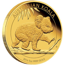 Zlatá mince 5 Oz Koala 2016 Proof
