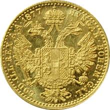 Zlatá mince Dukát Františka Josefa I. 1877