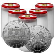 Strieborná investičná minca Wiener Philharmoniker 1 Oz - Investičný Paket 100 Kusov *