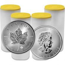 Strieborná investičná minca Maple Leaf 1 Oz - Investičný Paket 100 Kusov *