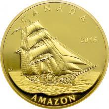 Zlatá mince Amazon - Tall Ships Legacy 2016 Proof