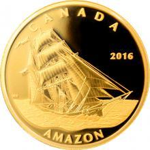 Zlatá minca Amazon - Tall Ships Legacy 2016 Proof