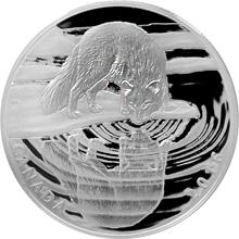 Stříbrná mince Liška polární - Reflections of Wildlife 2016 Proof (.9999)