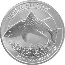 Stříbrná investiční mince Žralok tygří 1/2 Oz 2016