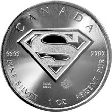 Strieborná investičná minca Superman 1 Oz 2016
