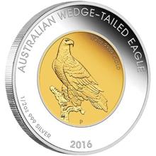 Exkluzivní Bimetalová mince Orel klínoocasý 1 Oz 2016 Proof