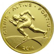 Zlatá mince Rio 2016 Sprint 2014 Proof
