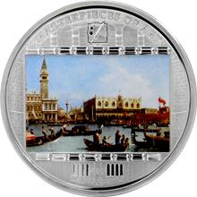 Stříbrná mince 3 Oz Bucintoro Canaletto 2011 Krystaly Proof