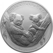 Stříbrná investiční mince Koala 1Kg 2011