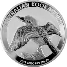 Stříbrná investiční mince Kookaburra Ledňáček 1 Kg 2011