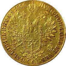 Zlatá mince 4-Dukát Františka Josefa I. 1856