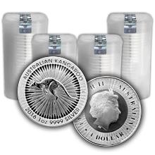 Stříbrná investiční mince Kangaroo Klokan 1 Oz - Investiční Paket 100 Kusů