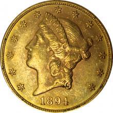 Zlatá mince American Double Eagle Liberty Head 1894