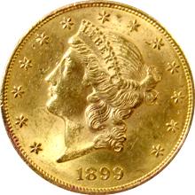 Zlatá mince American Double Eagle Liberty Head 1899