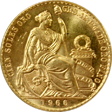 Zlatá mince 100 Soles Oro 1966