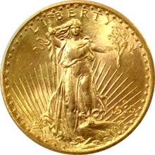 Zlatá mince American Double Eagle 1915