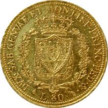 Zlatá mince 80 Lira Karel Felix Sardinský 1826