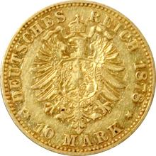Zlatá mince 10 Marka Vilém I. Pruský 1878