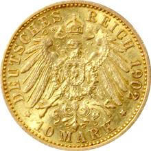 Zlatá mince 10 Marka Vilém II. Pruský 1902
