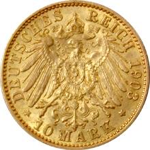 Zlatá mince 10 Marka Vilém II. Pruský 1903