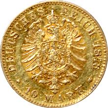 Zlatá mince 10 Marka Ludvík III. Hesenský 1876