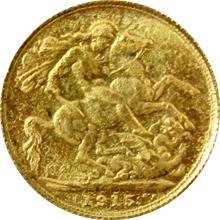 Zlatý Sovereign Král Jiří V. 1915 M