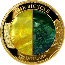 Zlatá mince 5 Oz Bicykl 200. výročí 2017 Perleť Proof