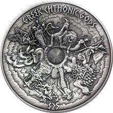 Stříbrná mince 1 Kg Řečtí bohové podsvětí 2017 Antique Standard