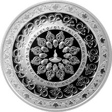 Stříbrná mince Diwali: Festival světel 1 Oz 2016 Proof