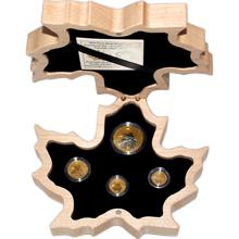 Maple Leaf 150. výročí Kanady Sada zlatých mincí 2017 Proof