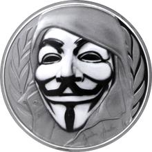 Stříbrná mince Anonymous V jako Vendeta 1 Oz 2016 Proof