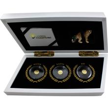 Animal Champions Sada zlatých mincí 2016 Miniatury Proof